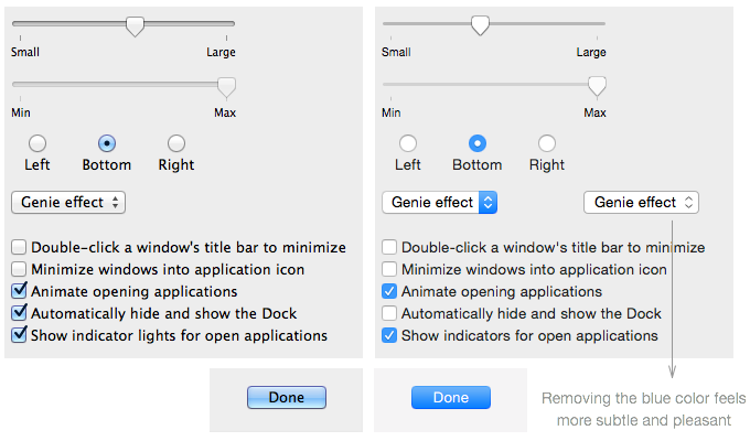 OS X Yosemite versus OS X Mavericks Color Feeds