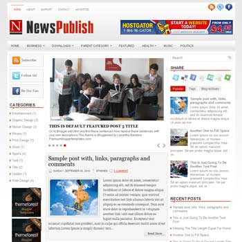 News Publish blog template. template image slider blog. magazine blogger template style. wordpress theme to blogger. template blog 3 column footer