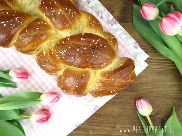 Klassischer Hefezopf zu Ostern, Rezept auf Foodblog rehlein backt