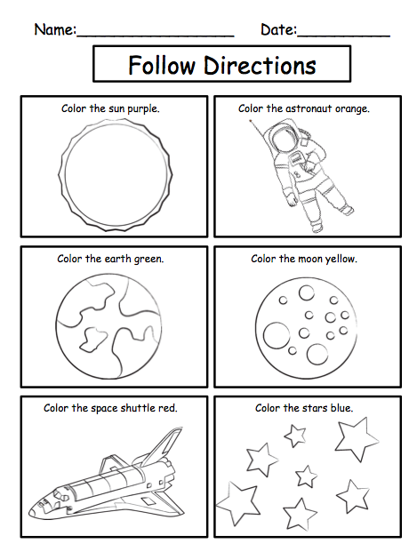 Following Directions Worksheets Printable - learn download ...