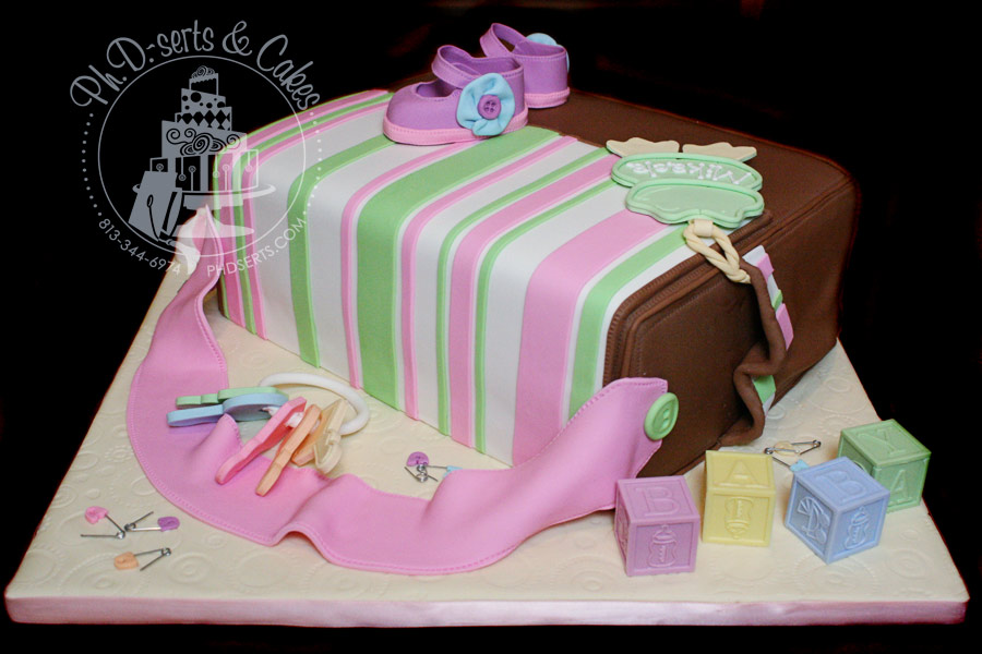 Cake Shaped Like a Diaper http://melcakewalk.blogspot.com/2011/08/diaper-bag-baby-shower-cake.html