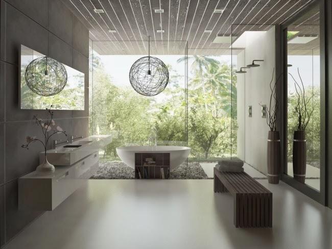Baños Minimalistas Imagenes:La tendencia en el diseño de baños minimalistas es separar la zona