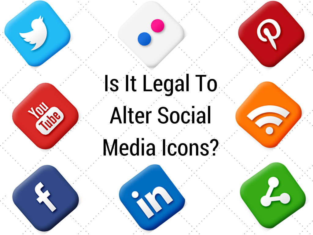 Is It Legal To Alter Social Media Icons.
