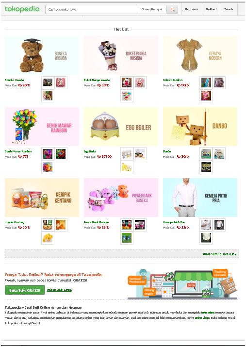 Ramdhan S Blog Analisis Web Design Imk Tokopedia
