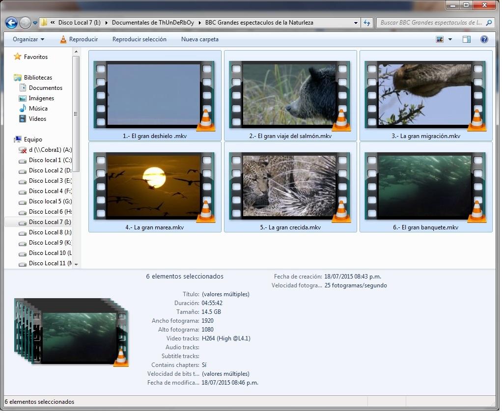 14GB|BBC|G Espectáculos de la Naturaleza|6-6|FullHD 1080p|MG