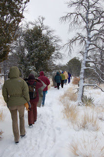 Group at Walnut Canyon, Photo by Lynda Yraceburu