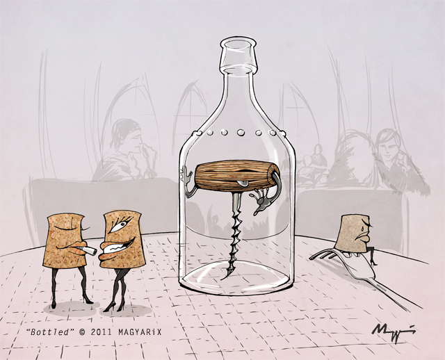 The bottled corkscrew