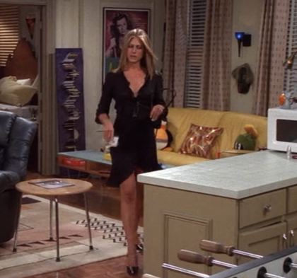 rachel green look black