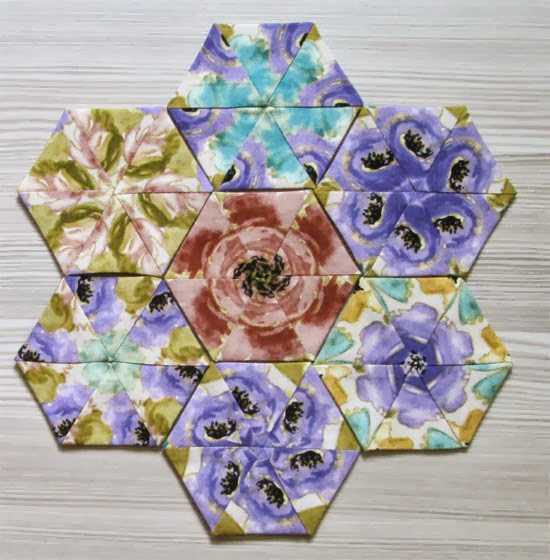 tutorial- how to sew kaleidoscope hexagons