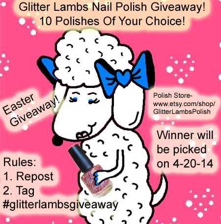 Glitter Lambs Nail Polish Easter Giveaway!