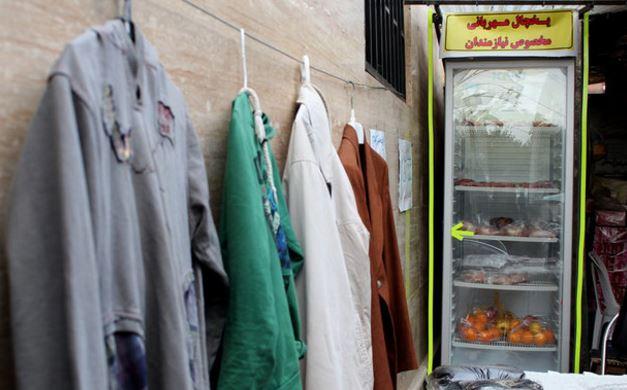 ایران-دیوار ویخچال مهربانی در آمل