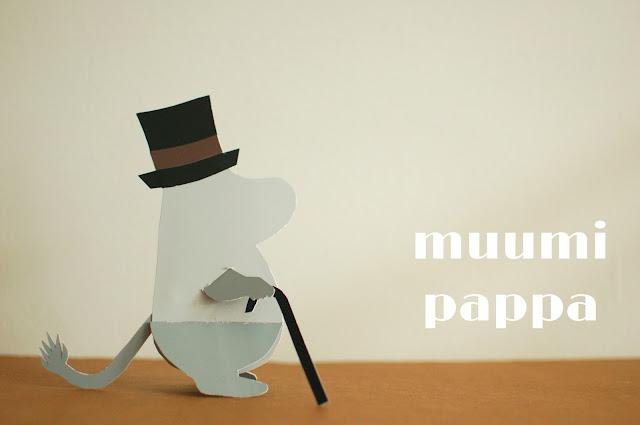 paint chip moomin / paperi muumipappa
