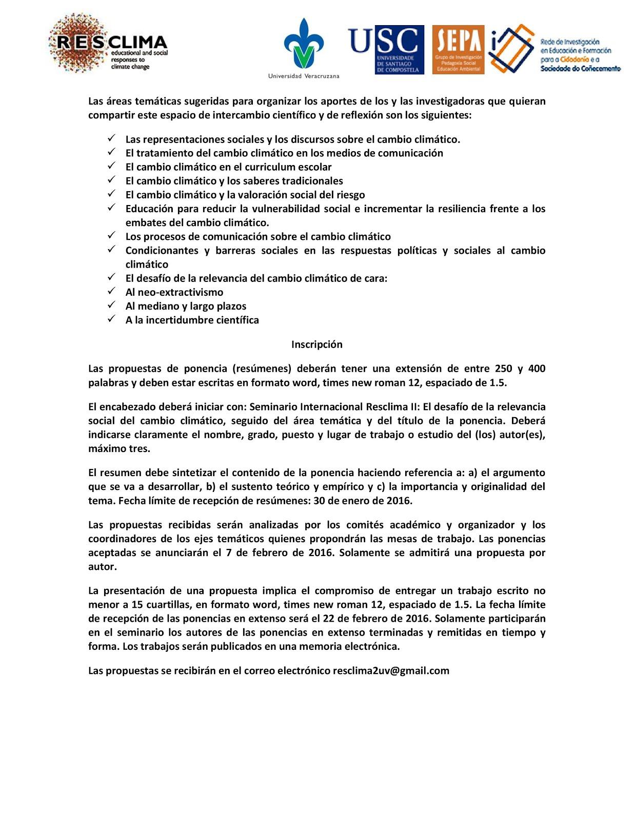 Édgar J. González Gaudiano: Invitación al II Seminario Internacional ...