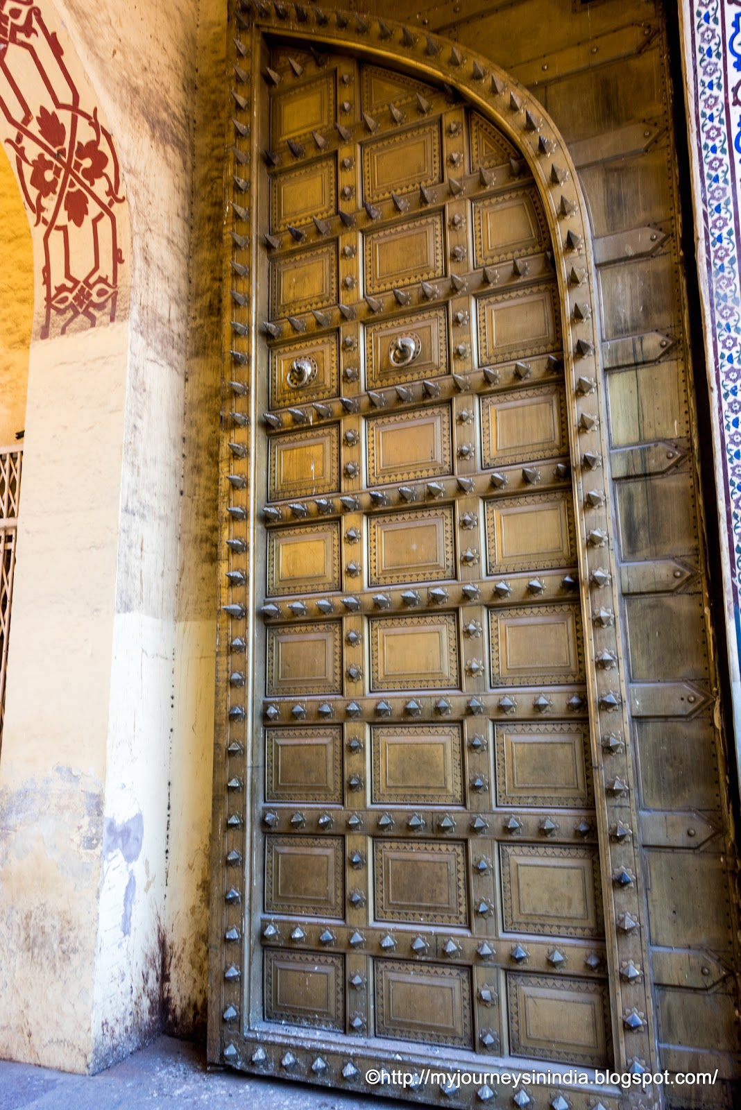 Giant Bronze Doors at City Palace Jaipur