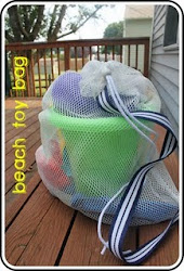 Beach Toy Bag Tutorial