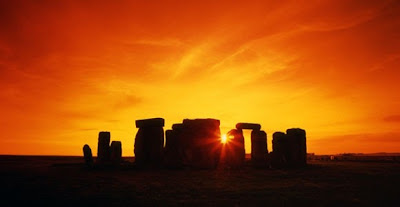 stonehenge, henges, ancient man, sunset, standing stones, mystery, monuments