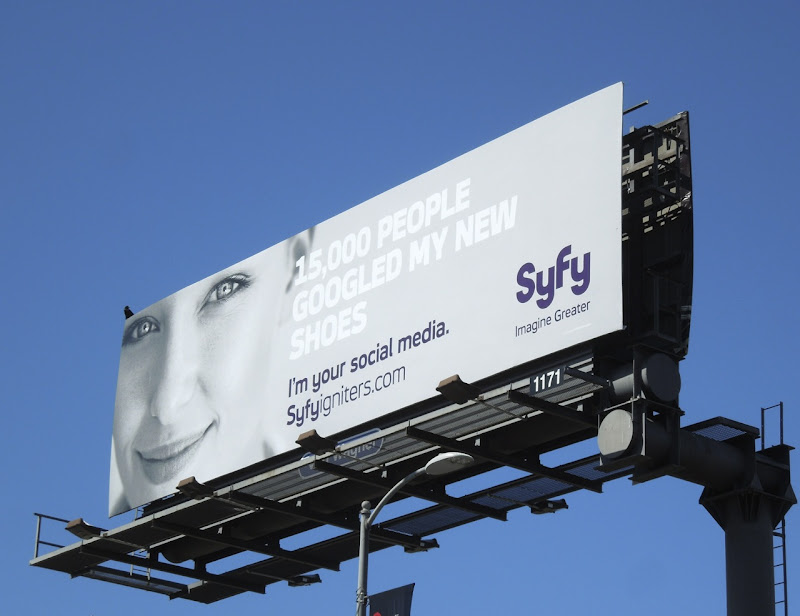 googled shoes Syfy Igniters billboard