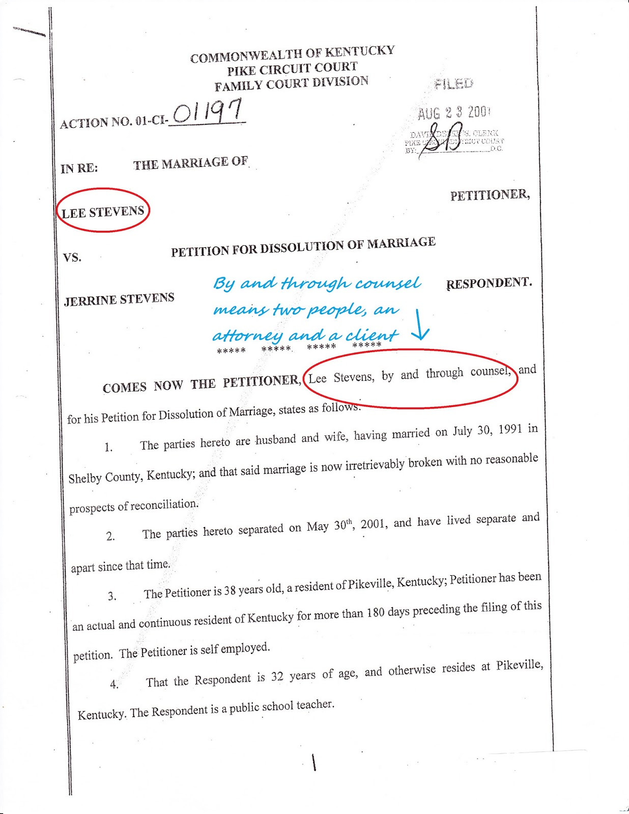 sample divorce paper template .