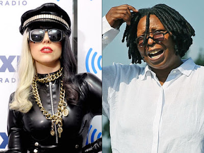 Flash of Celebrity - Lady Gaga and Whoopi Goldberg