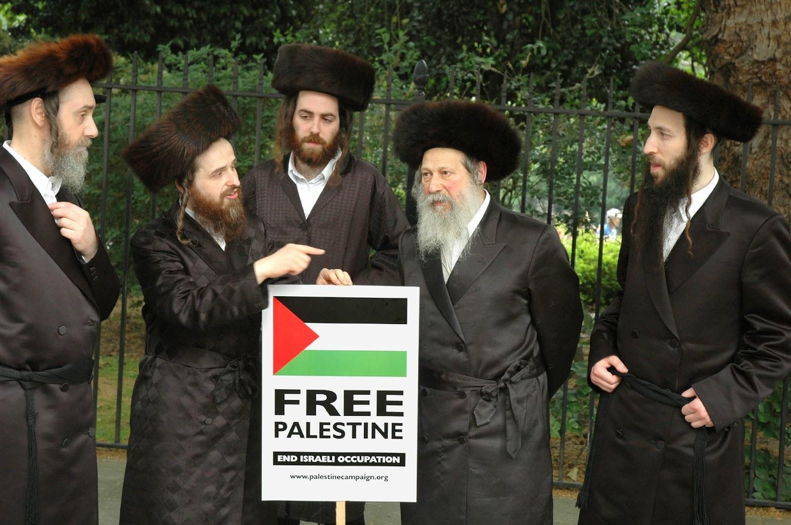 Members of Neturei Karta Orthodox Jewish group protest against Israel. (Wikipedia)