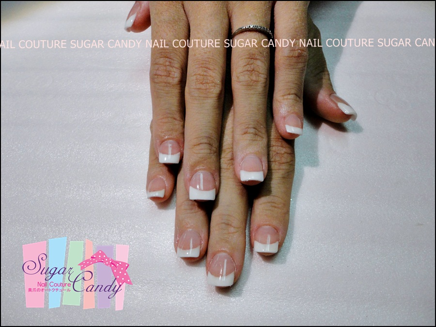 SUGAR CANDY NAIL COUTURE: Acrylic French Sculpture