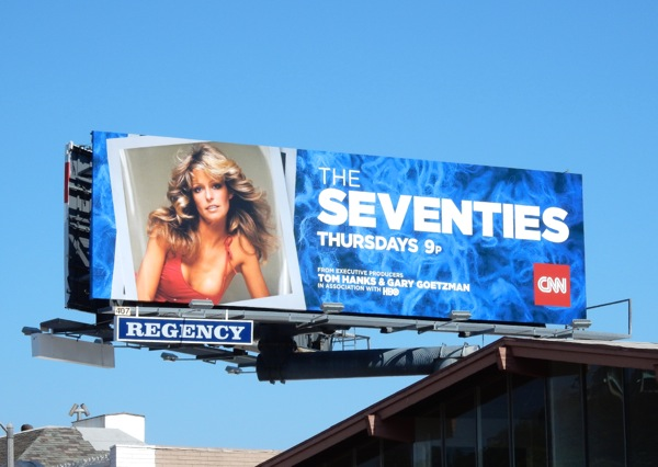 The Seventies Farrah Fawcett billboard