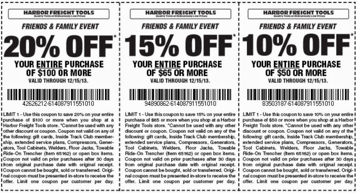 Harbor freight 25 off printable coupon april 2018