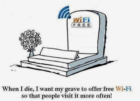 i want my grave to offer free wi fi