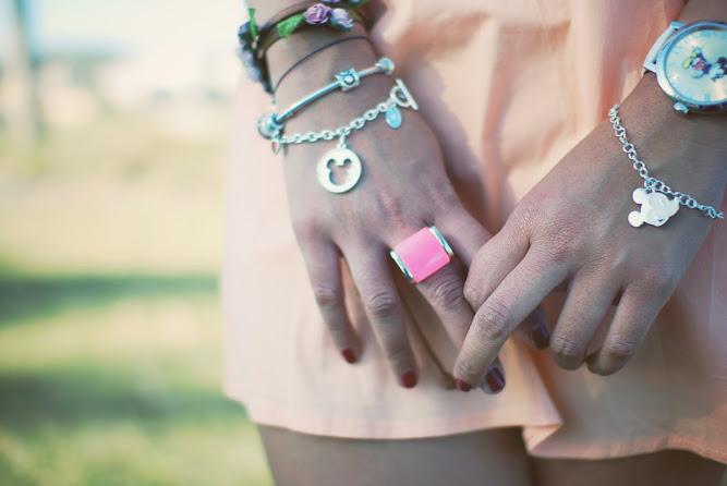 Disney Couture Silver Bracelet Lotus Mendes Ring Pandora