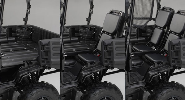 2014 Pioneer 4 convertible rear seat system.