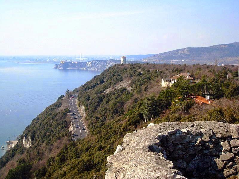 Giovane Montagna di Padova - Il golfo di Trieste in traversata da Aurisina al castello di Miramare