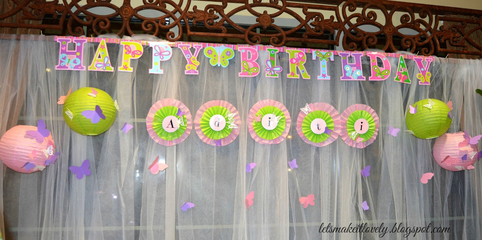 DIY Butterfly birthday party on budget