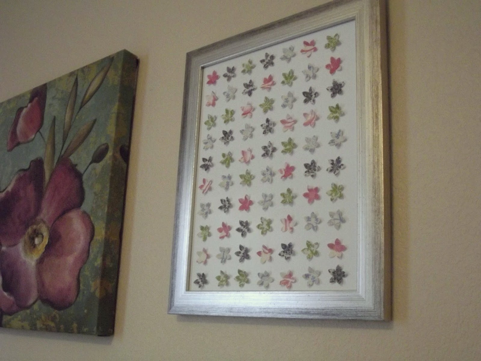 Scrapbook Paper Flower Wall