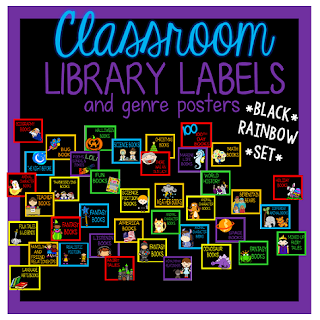 https://www.teacherspayteachers.com/Product/Classroom-Library-BasketBin-Labels-Black-Rainbow-Set-1939738