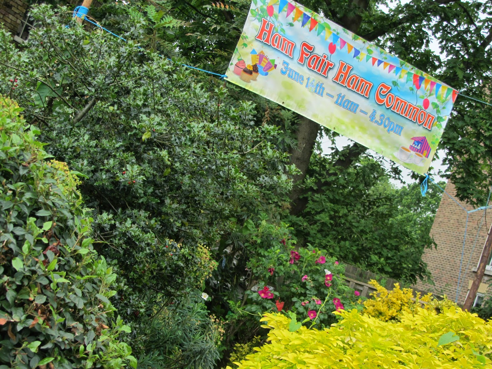 Ham photos rear garden at ormeley lodge - This Publicity Is Rolling Out For This Year S Ham Fair And The Most Prominent Piece Is The Banner Above The Gate House Garden On The South East Corner Of