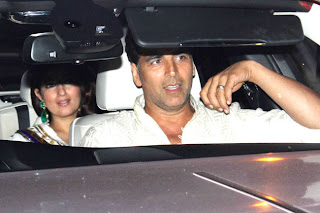Twinkle and askhay arrived Diwali celebration at Amitabh Bachchan House