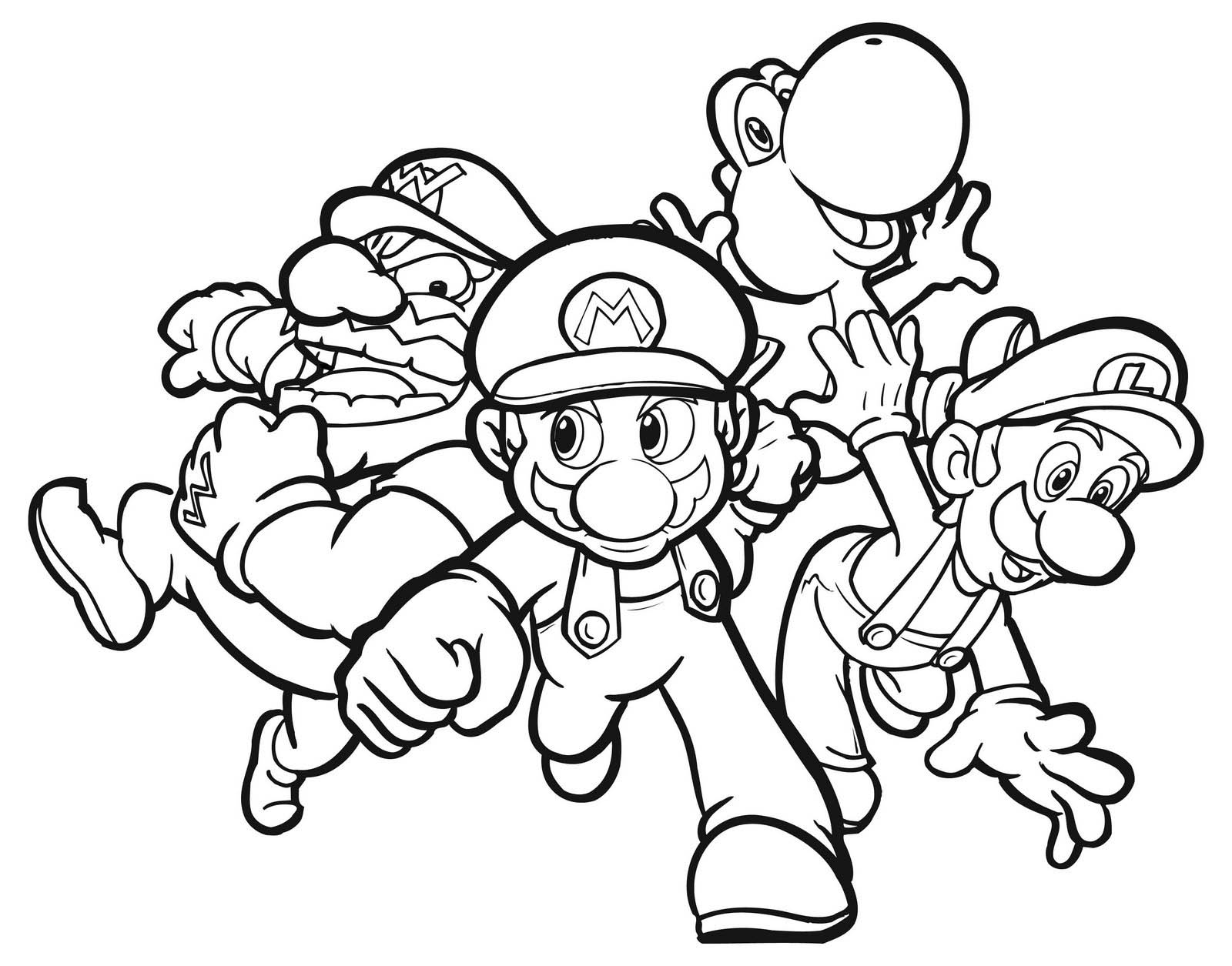 Refreshing image with mario printable coloring pages