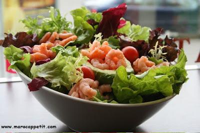 Salade d'avocat aux crevettes | Avocado with shrimps salad