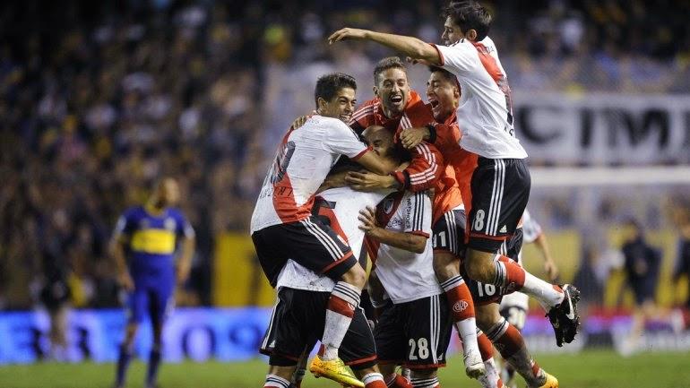Festejo final, River, River Plate, Bombonera, Bombonerazo, Boca, Boca Juniors, Torneo Final, 2014,