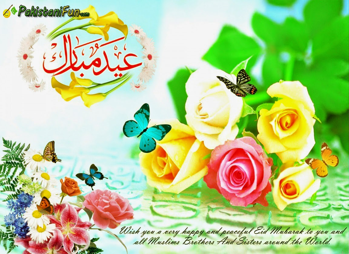 Coulourful flowers wishes eid greetings wallpaper with message colourful flowers wishes eid greetings image wide kristyandbryce Images