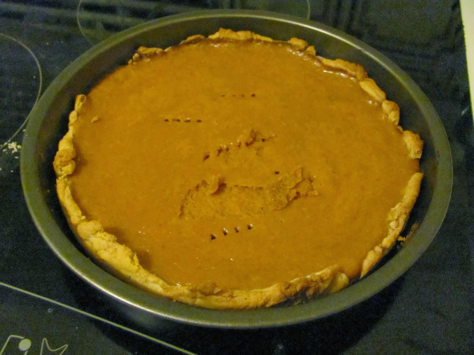 Pumpkin pie in Dublin Ireland Thanksgiving 2013