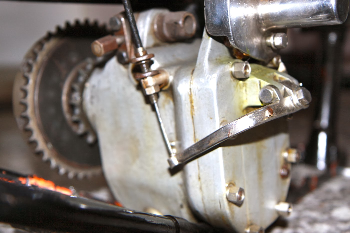 Vintage Norton Motorcycles 1930 Type Ns Gearboxes Gear Box Of Motorcycle Sg We Mentioned In Our Recent Posting About Sturmey Archer Footchange Mechanisms That The Three Speed Gearbox Fitted To Marcels Tt Spec
