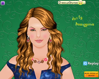 Taylor Swift Games on Taylor Swift Makeover Game   Trailer