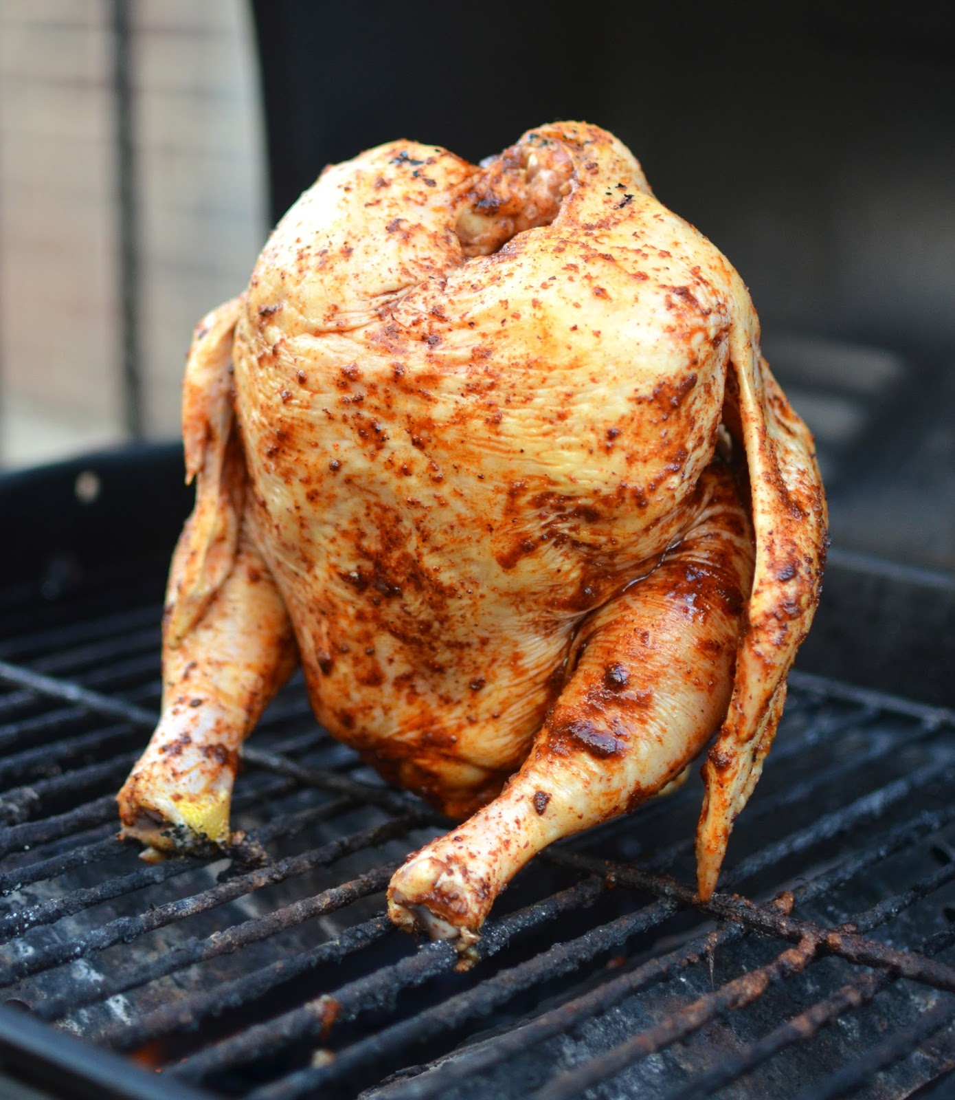 words & whisks: chillaxin chicken (aka beer can chicken)