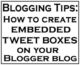 Embedded Tweet Boxes in a BlogSpot Blog