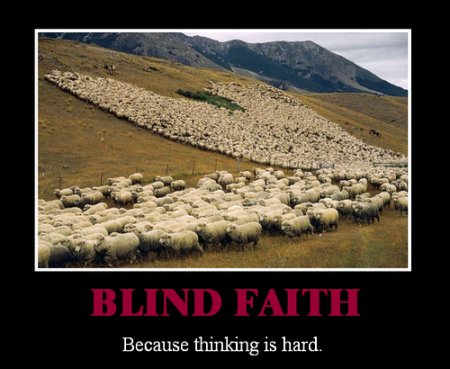 blind faith   religion