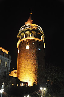 Torre Gàlata nit, torre Gálata noche