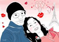 Portrait personnalisé en illustration