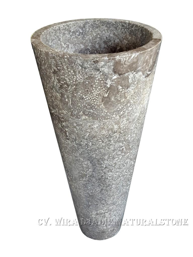 Standwaschbecken aus marmor vasque colonne sur pied en marbre pedestal si - Vasque sur pied design ...