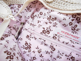 Bolsa Jolie Creme - Estampa rosa floral